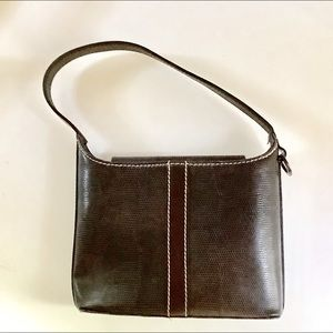 Lancel Paris Textured Leather Mini Bag Made in France Vintage with Dust Cover